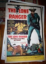 The lone Ranger and the Lost City of Gold one sheet vintage movie poster 1984
