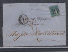 TOSCANA 1851 MARZOCCO 2 CRAZIE USATO SU BUSTA VIAGGIATA OTTIMI MARGINI