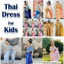 Traditional Princess Girl Thai Kids Dress Thai Dance Costume School Occasions