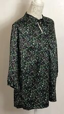Vintage/Vintage Inspired Ditsy Floral Print Tunic Top Tie Neck Size 16 Smart