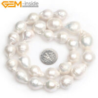 Natural Assorted Shape Freshwater Pearl Loose Beads Jewelry Making Strand 15""