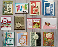12 Handmade Thank You Appreciation greeting cards envelopes Stampin' Up! +more
