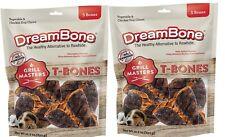 """DreamBone Grill Masters T-Bones 5 Bone Dog Treats w/ Added Vitamins """"Lot of 2"""""""