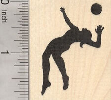 Volleyball Player Rubber Stamp G28314 WM