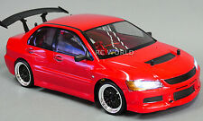 Custom RC 1/10 Drift MITSUBISHI LANCER EVOLUTION EVO AWD BELT CAR RTR w/ LED RED