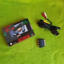 SNES original Nintendo tv-cable + adaptador SCART (incl. caja original)