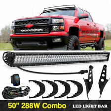 50''inch LED Light Bar Combo w/Upper Roof Mount Brackets For GMC Sierra 1500