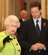 Queen Elizabeth II & Nick Clegg 10 x 8 UNSIGNED photo - P1036