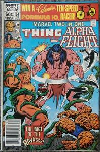 MARVEL TWO-IN-ONE featuring THE THING  #84  {MARVEL}  1982  ALPHA FLIGHT