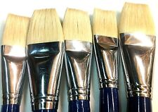 Bristle Hair Flat Style Paint Brush Set 5pcs  ART6158
