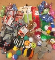 New Bulk Buy Cat Kitten Toys Rod Fur Mice Bells Balls  Catnip 10  items BARGAIN
