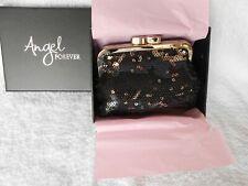 MIB-Victoria's Secret ANGEL FOREVER BLACK SEQUIN COIN CHANGE PURSE