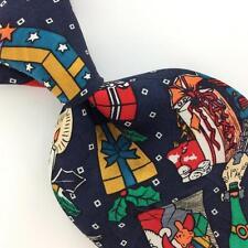 QUINT CLASSIQUE US MADE SANTA Gift Christmas Silk Necktie Tie #X1-100 Excellent