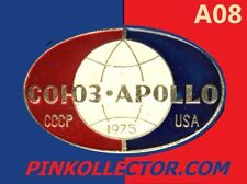 Soyuz-Apollo 1975 Joint US-USSR Space Flight Russian Metal Pin Badge INA08