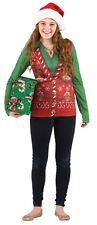 Faux Real Tees Ladies Long Christmas Vest UK 10 12