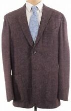 Boglioli NWT K. Jacket / Sport Coat Size 48L In Burgundy & Gray Fleck $1,495