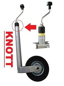 KNOTT Stützrad mit Stützlastwaage 150 kg für Wohnwagen Anhänger Camper Trailer