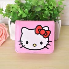 Hello Kitty Women's Short PU Leather Pink Purse Clutch Coin ID Wallet Bag Gift