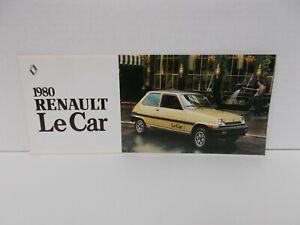 1980 RENAULT LE CAR BROCHURE