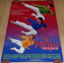 3 NINJAS KICK BACK 1994 ORIGINAL ROLLED DS 1 SHEET MOVIE POSTER VICTOR WONG
