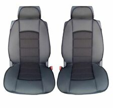 PREMIUM BLACK CUSHION PADDED SEAT COVERS FOR VW CADDY TRANSPORTER T4 T5 MULTIVAN