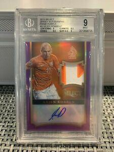 2015 Select Jersey Autographs Prime Purple #4 Arjen Robben 5/7 MINT GRADED