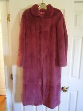 AWESOME BETSEY JOHNSON ULTRA PINK RABBIT FUR COAT JACKET ONE OF A KIND HIPSTER
