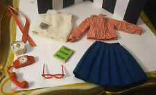 VINTAGE IDEAL TAMMY DOLL OUTFIT #9174-4 SORORITY SWEETHEART W TELEPHONE TV + LOT