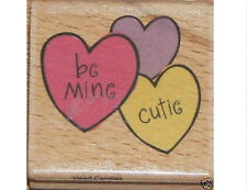 """KATIE AND CO """"HEART CANDIES"""" RUBBER STAMP"""
