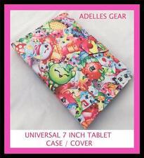 KIDS OR CHILDRENS  UNIVERSAL 7 INCH TABLET COVER CASE SHOPKINS PINK DESIGN