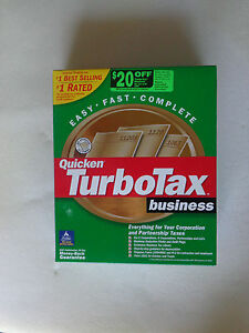 Intuit TurboTax Business for Tax Year 2001(New!Factory sealed retail box)