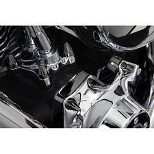 Ciro Black Fluted Spiked Bolt Cap Set For Harley Twim Cam - 70006