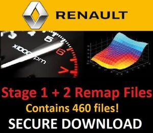 Renault Stage 1 + 2 ECU Chip Tuning Remap Files - Includes 460 Files! - Download