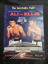 MUHAMMAD ALI  vs  JIMMY ELLIS **Official Program 7/26/1971 Boxing Championship