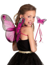 Bright Pink Cute Butterfly Wings and Wand