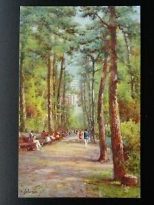 BOURNEMOUTH The Pine Walk by Alfred De Breanski Jr - Postcard by R. Tuck 3019