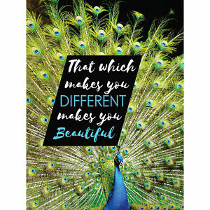 Motivational Peacock Different Beautiful Large Canvas Wall Art Print