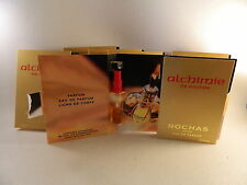 Alchimie De Rochas Perfume .07 oz Sample Spray Vials Card  EDP Lot Set x 8 Rare