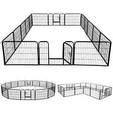 16 eckig Welpenlaufstall Tierlaufstall Welpenauslauf Freigehege mit 2 Türen