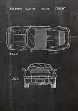 Porsche Patent Art Fine Art Print in gallery quality a4 Art Print Sheet 2. 01