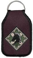 U.S. Army 4th Infantry Division Black Embroidered Key Chain