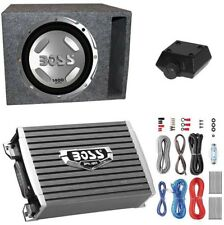 Boss Audio 1400W Subwoofer + Boss 1500W Amplifier + Remote And Wiring Kit +