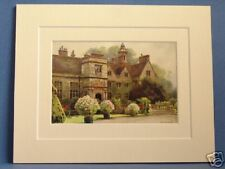 RUFFORD ABBEY NOTTS VINTAGE MOUNTED PRINT HASLEHUST 20s