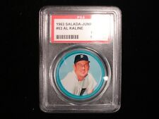 1963 Salada Junket Coin #63 Al Kaline Detroit Tigers - PSA NM-MT 8