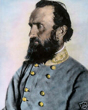 "GENERAL STONEWALL JACKSON CIVIL WAR APRIL 1963 11x14"" HAND COLOR TINTED PHOTO"