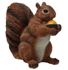 More details for red squirrel ornament figure statue realistic resin sculpture home decor gift