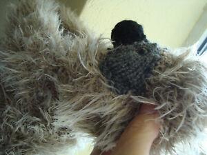 Hand Knitted Soft Cuddly Sloth In Luxury Fur Yarn