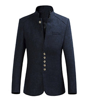 Men's Fashion Suit Jacket Slim Cotton Blazer Coat Outwear Wool Coat L 022
