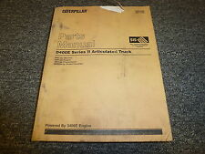 Caterpillar Cat D400E Series Ii 2 Articulated Dump Truck Parts Catalog Manual