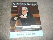 SATURDAY REVIEW MAGAZINE / MAY 29 1965 / OTTO KLEMPERER COVER / MASS MEDIA